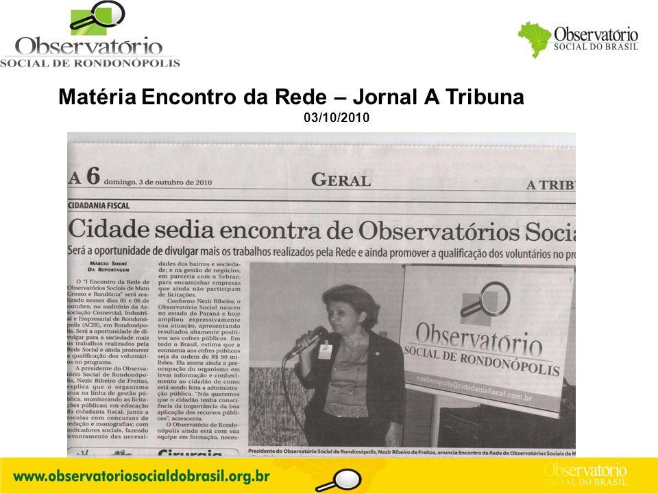 Matéria Encontro da Rede – Jornal A Tribuna