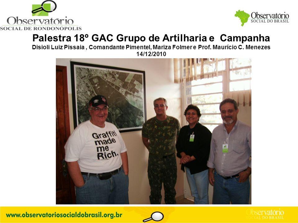 Palestra 18º GAC Grupo de Artilharia e Campanha