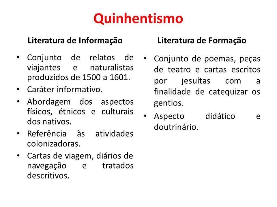 Literatura de Informação Literatura de Formação