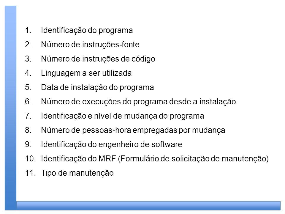 Identificação do programa