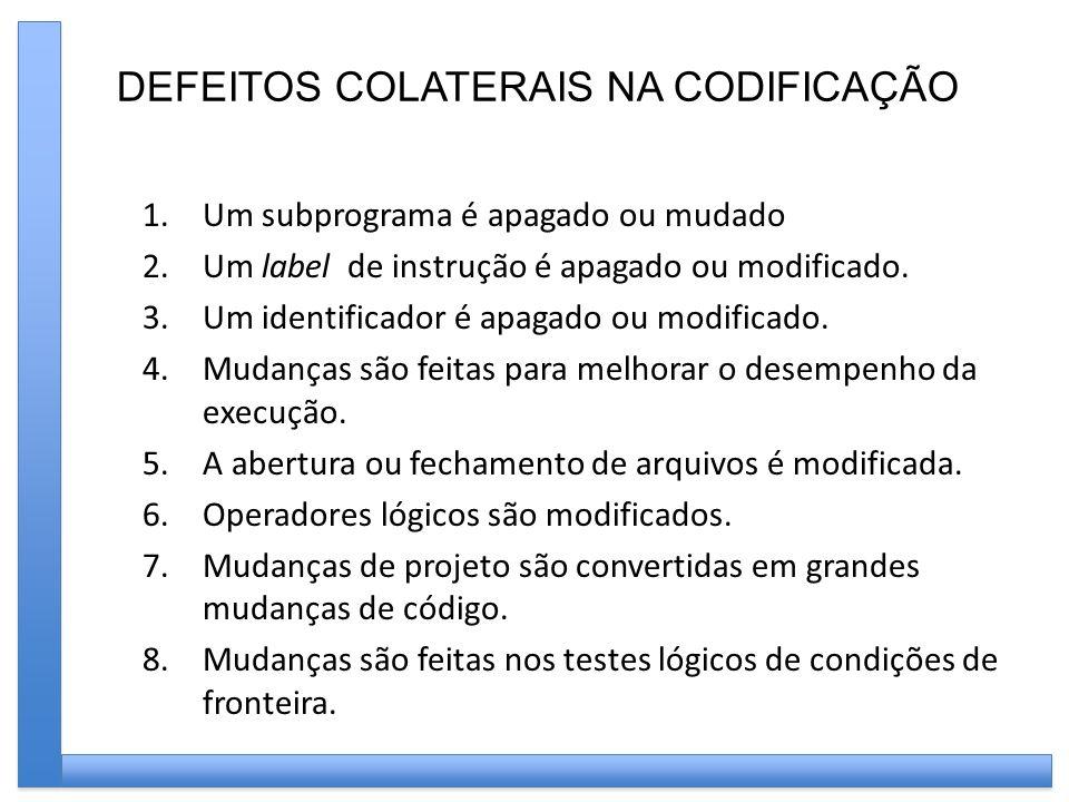 DEFEITOS COLATERAIS NA CODIFICAÇÃO