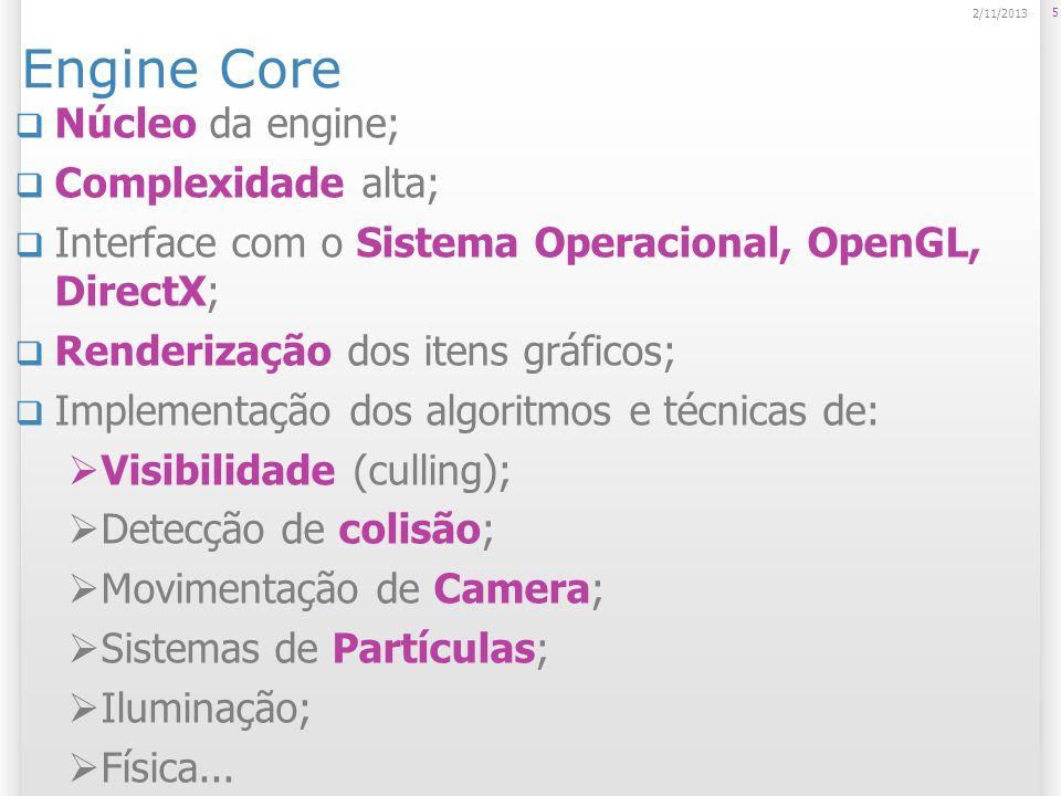 Engine Core Núcleo da engine; Complexidade alta;