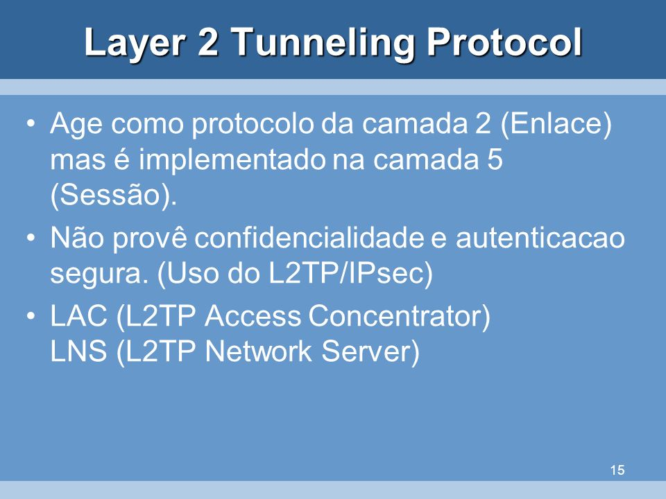 Layer 2 Tunneling Protocol