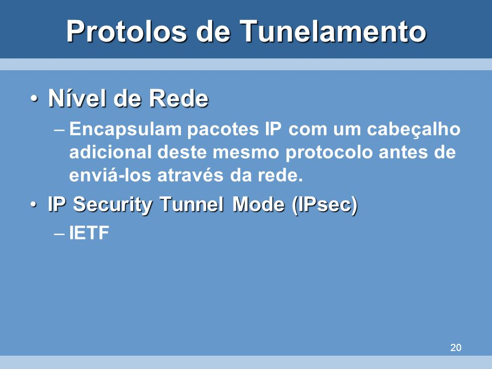 Protolos de Tunelamento