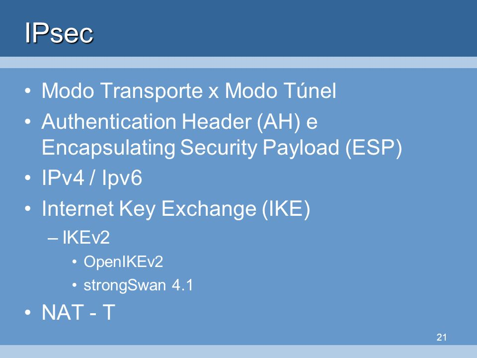 IPsec Modo Transporte x Modo Túnel