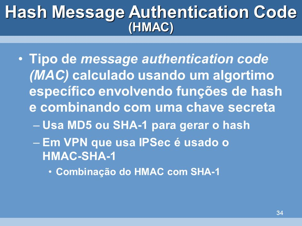 Hash Message Authentication Code