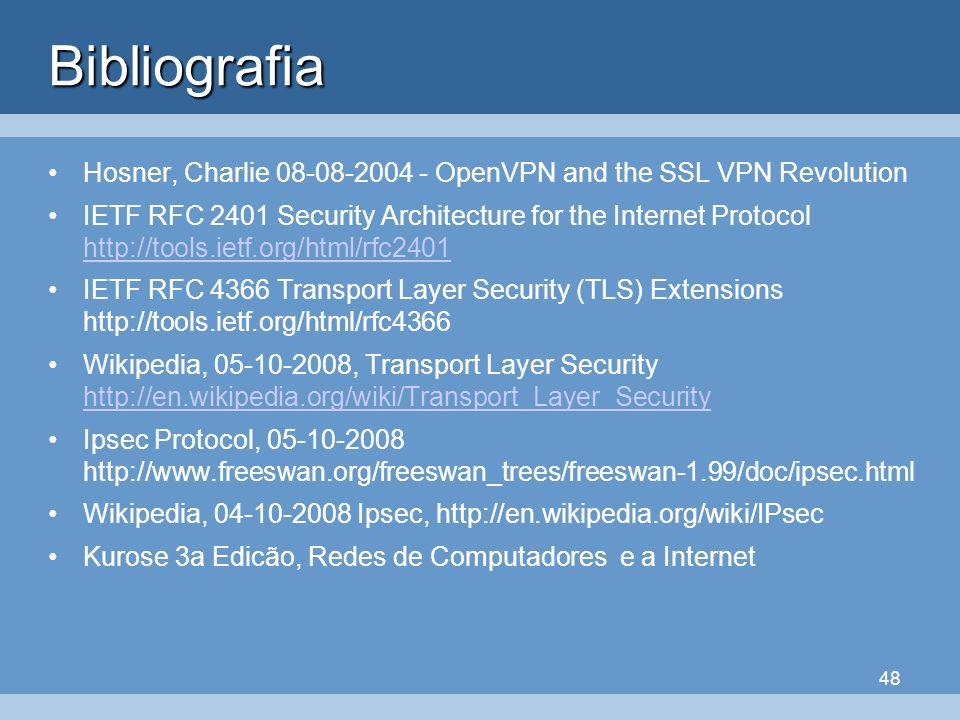BibliografiaHosner, Charlie 08-08-2004 - OpenVPN and the SSL VPN Revolution.