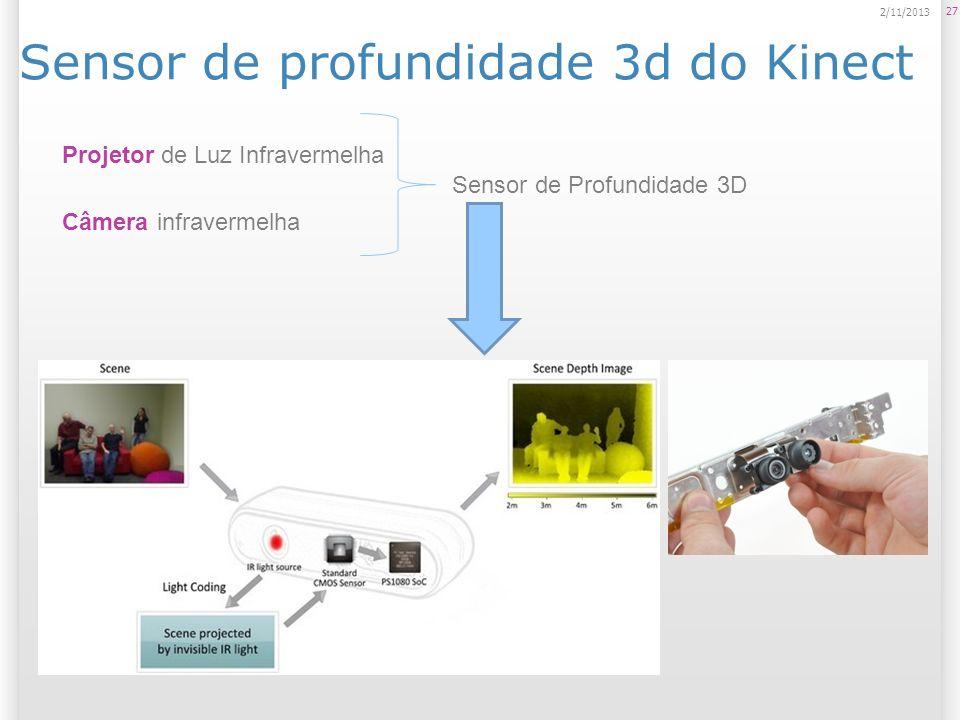 Sensor de profundidade 3d do Kinect