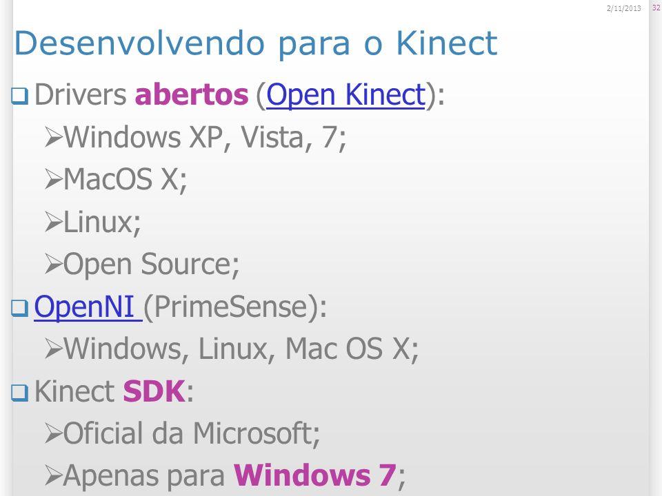 Desenvolvendo para o Kinect