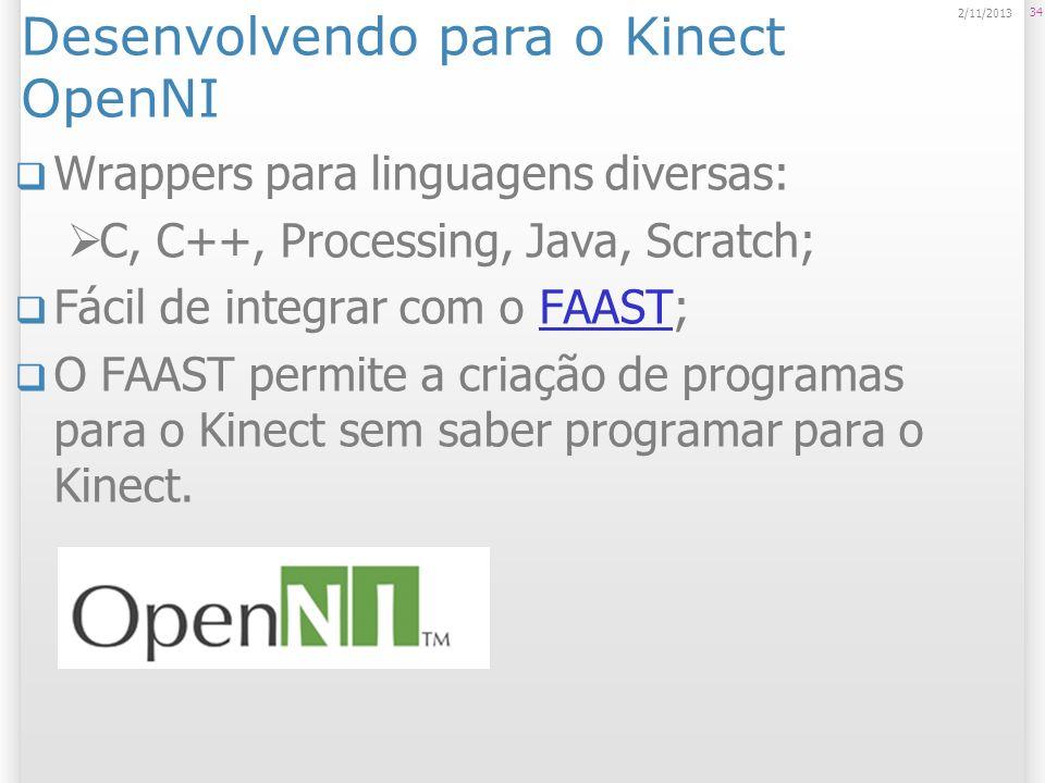 Desenvolvendo para o Kinect OpenNI