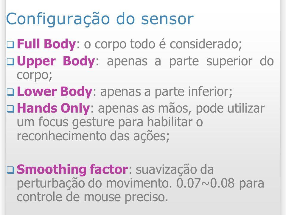 Configuração do sensor