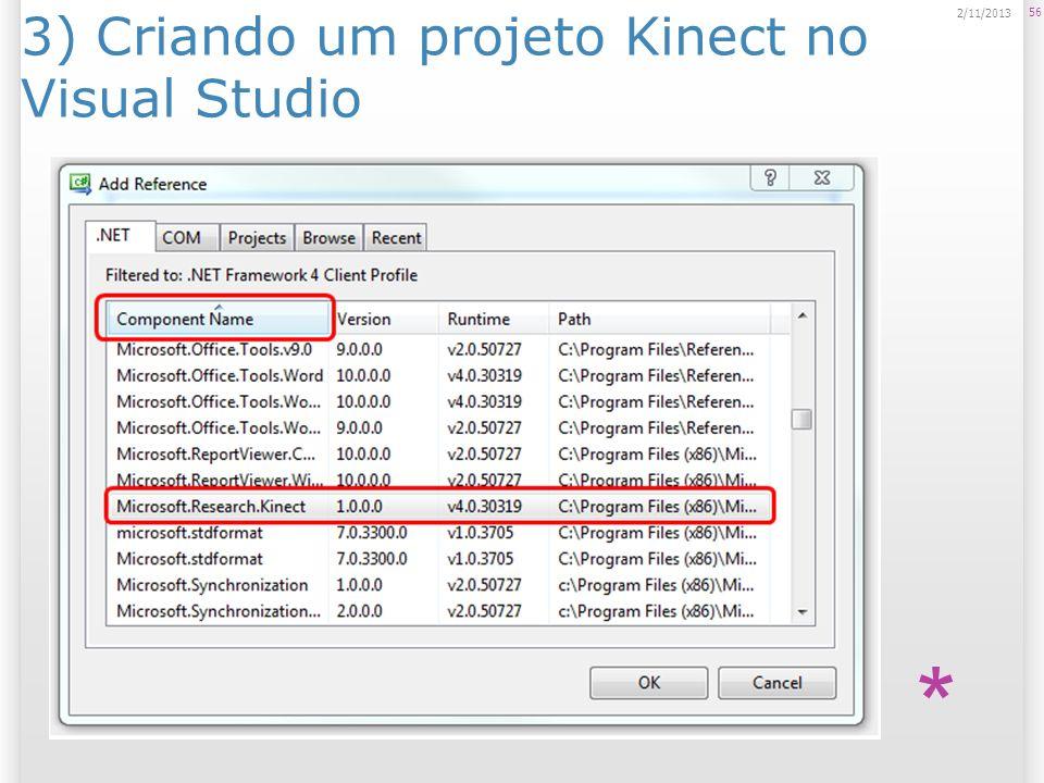 3) Criando um projeto Kinect no Visual Studio