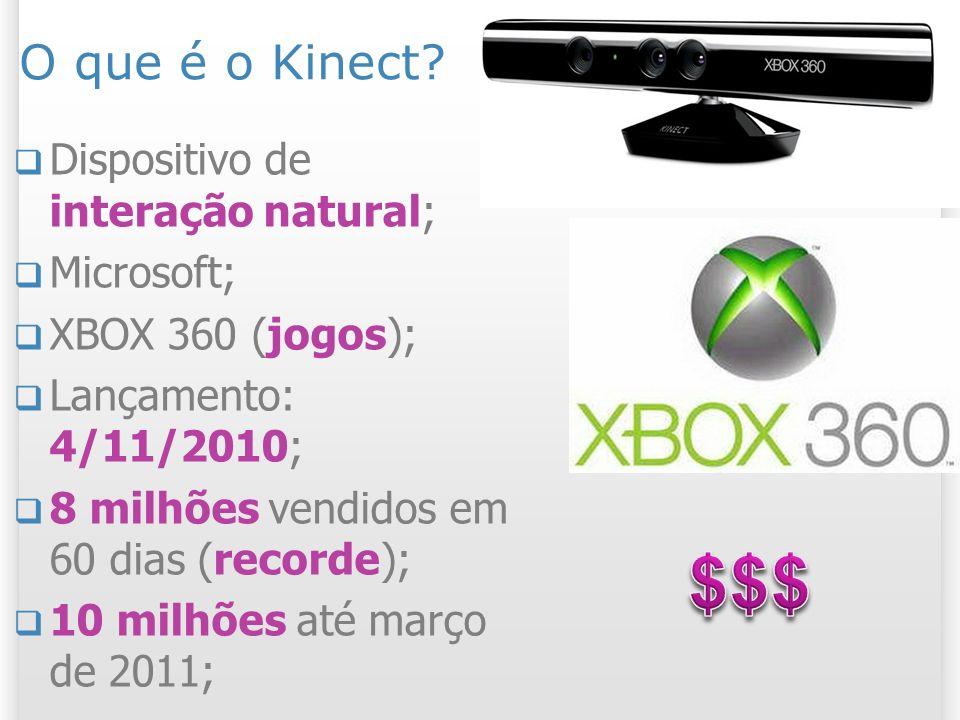 $$$ O que é o Kinect Dispositivo de interação natural; Microsoft;