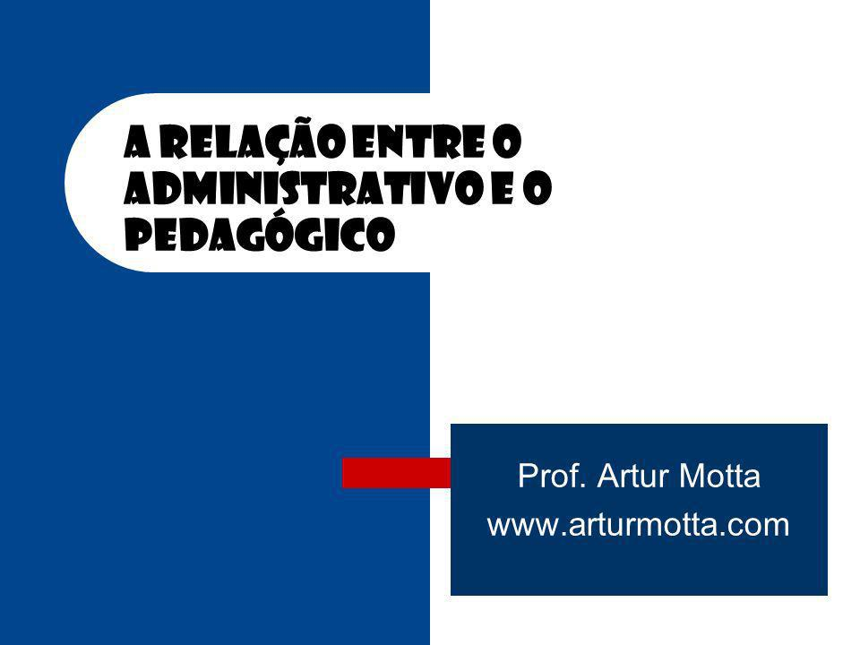 A Relação entre o administrativo e o pedagógico