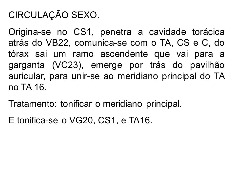 CIRCULAÇÃO SEXO.