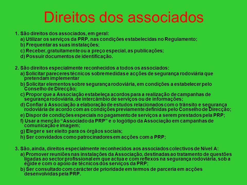 Direitos dos associados