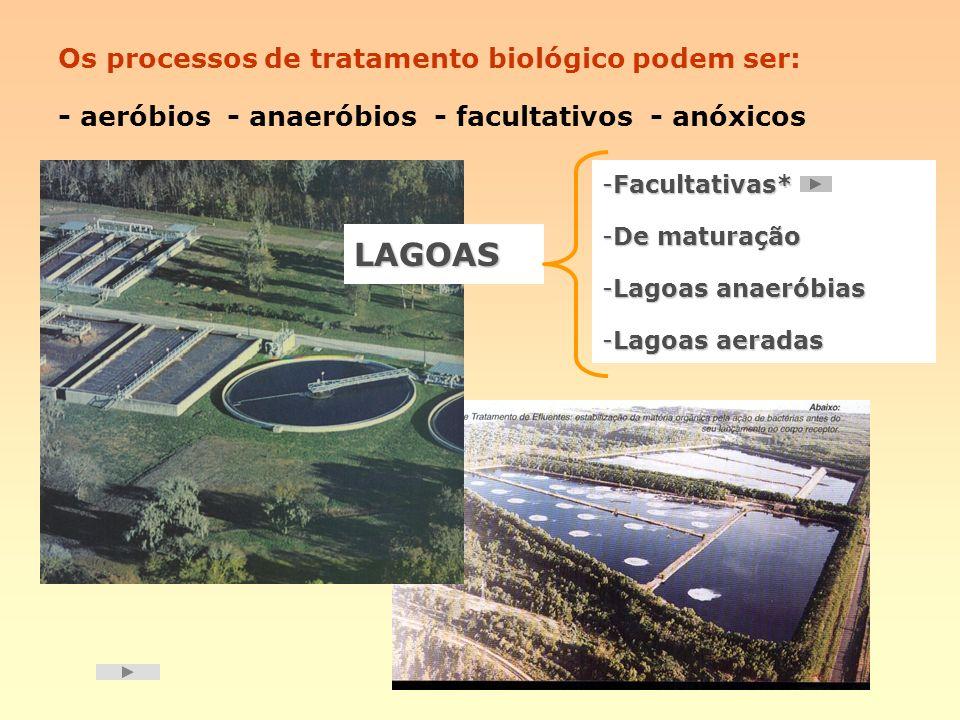 LAGOAS Os processos de tratamento biológico podem ser: