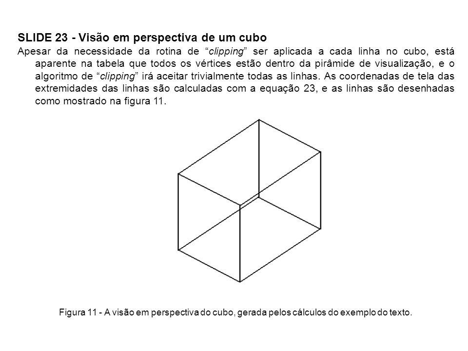 SLIDE 23 - Visão em perspectiva de um cubo