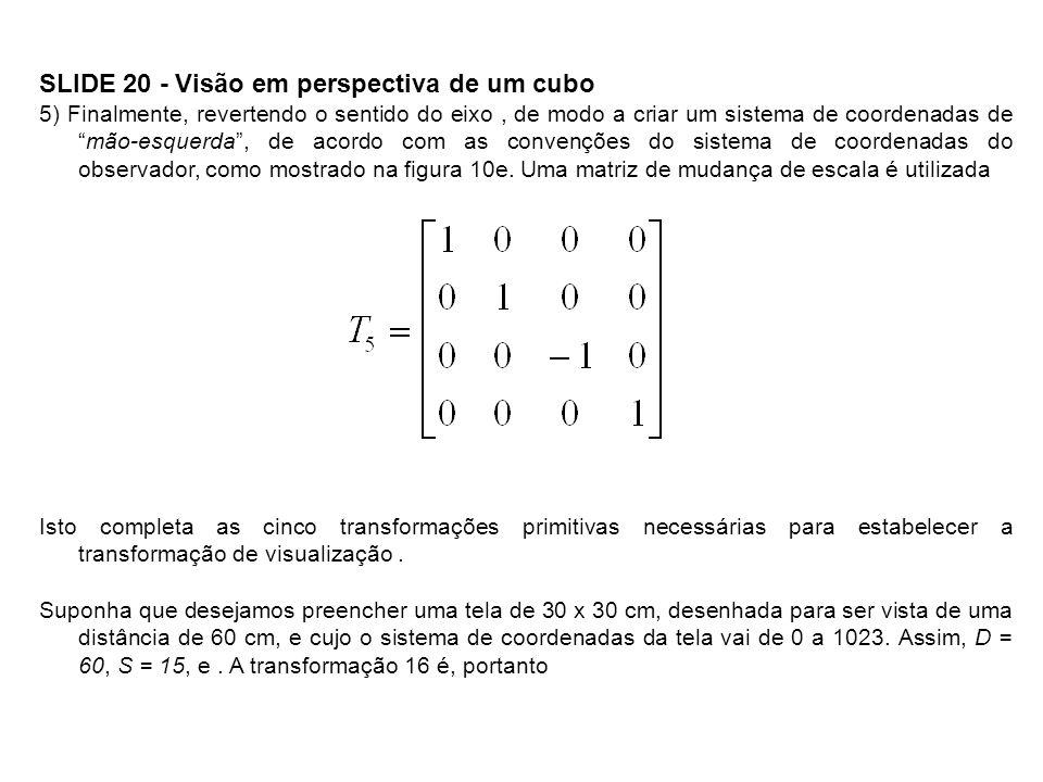 SLIDE 20 - Visão em perspectiva de um cubo
