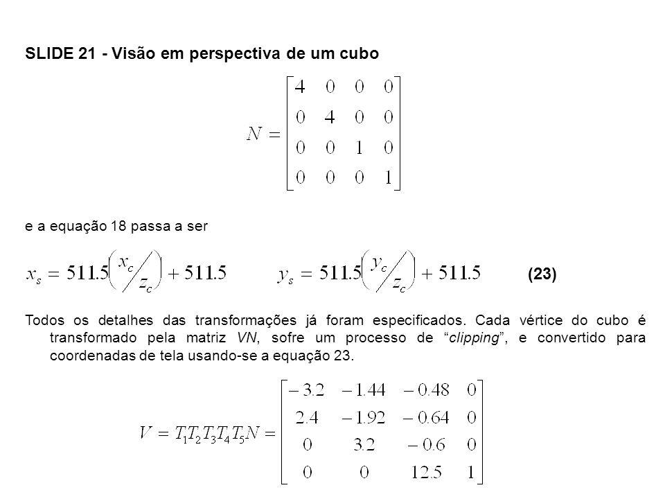SLIDE 21 - Visão em perspectiva de um cubo