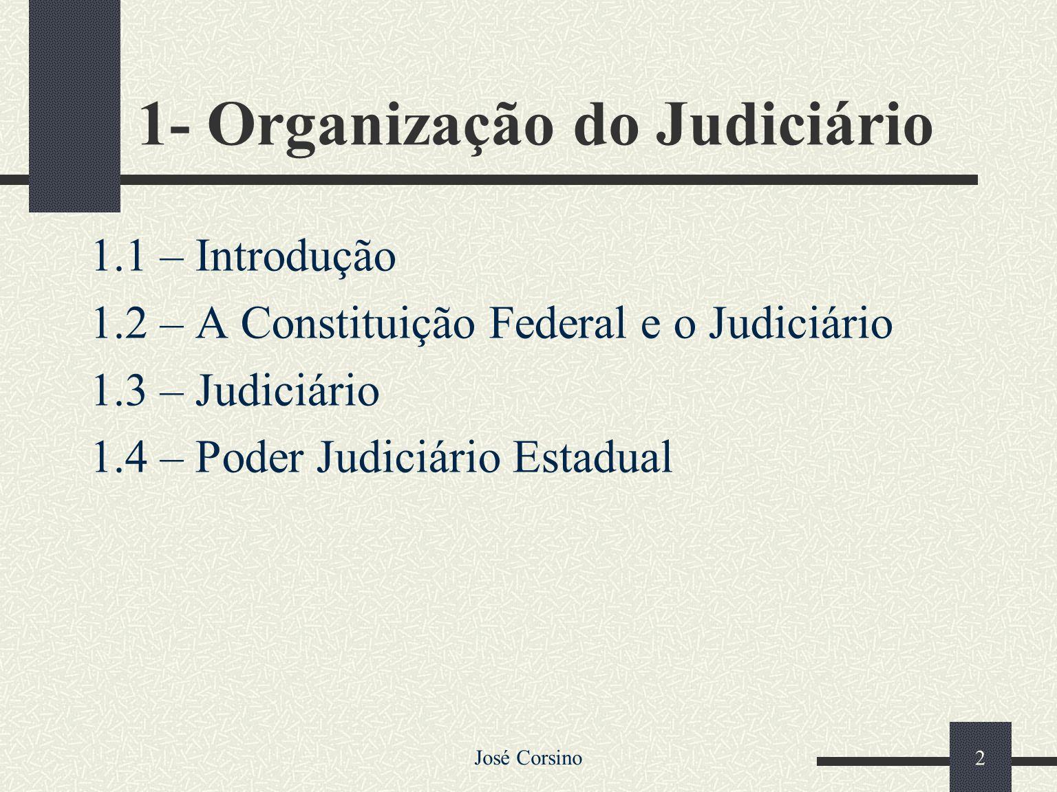1- Organização do Judiciário