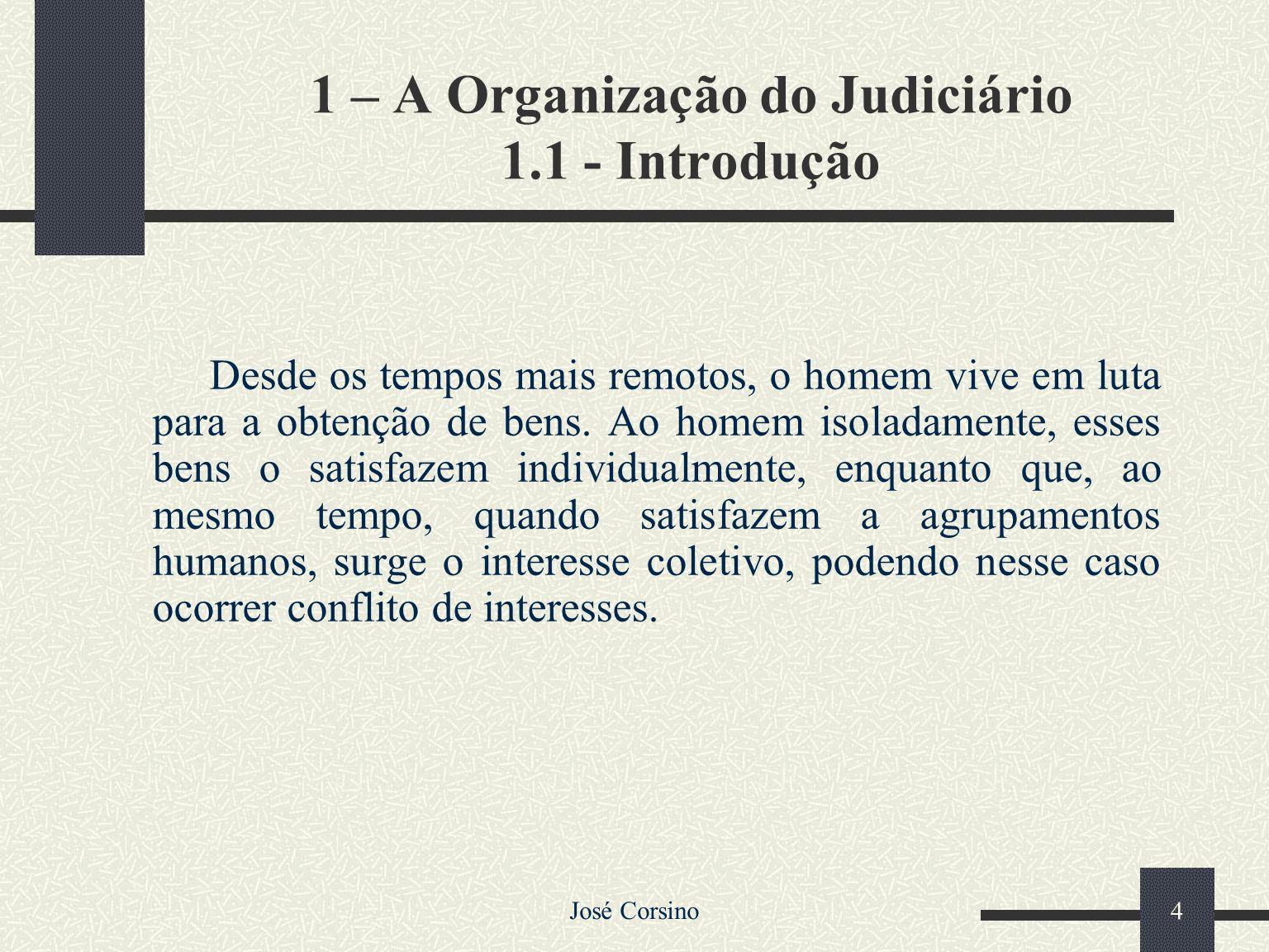 1 – A Organização do Judiciário 1.1 - Introdução