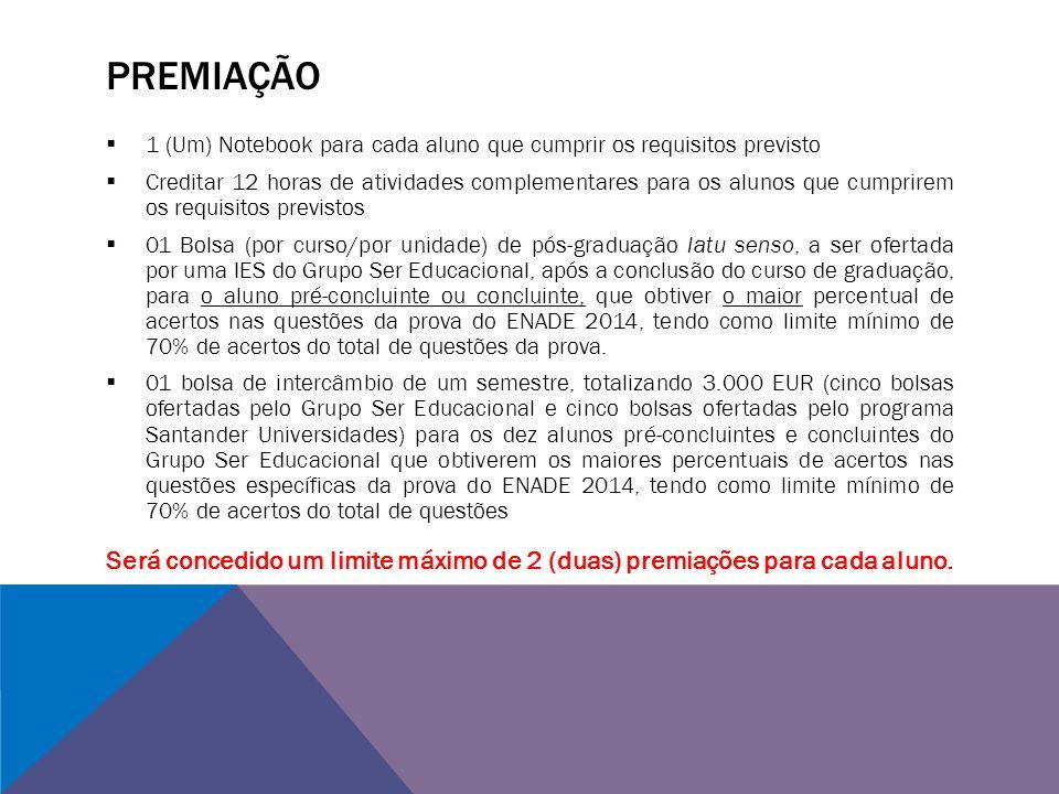 PREMIAÇÃO 1 (Um) Notebook para cada aluno que cumprir os requisitos previsto.