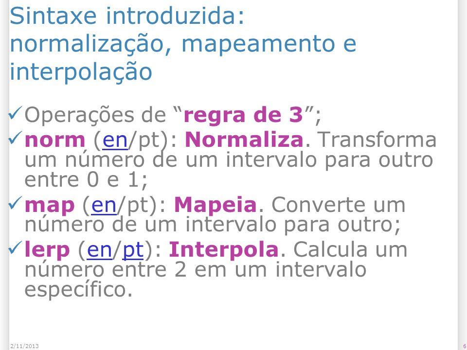 Sintaxe introduzida: normalização, mapeamento e interpolação