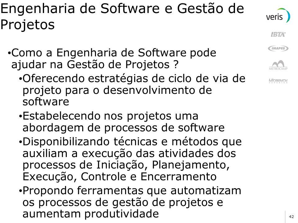 Engenharia de Software e Gestão de Projetos