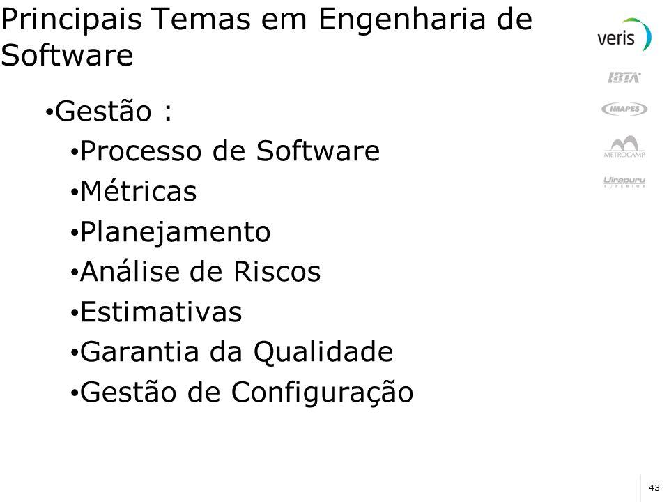Principais Temas em Engenharia de Software