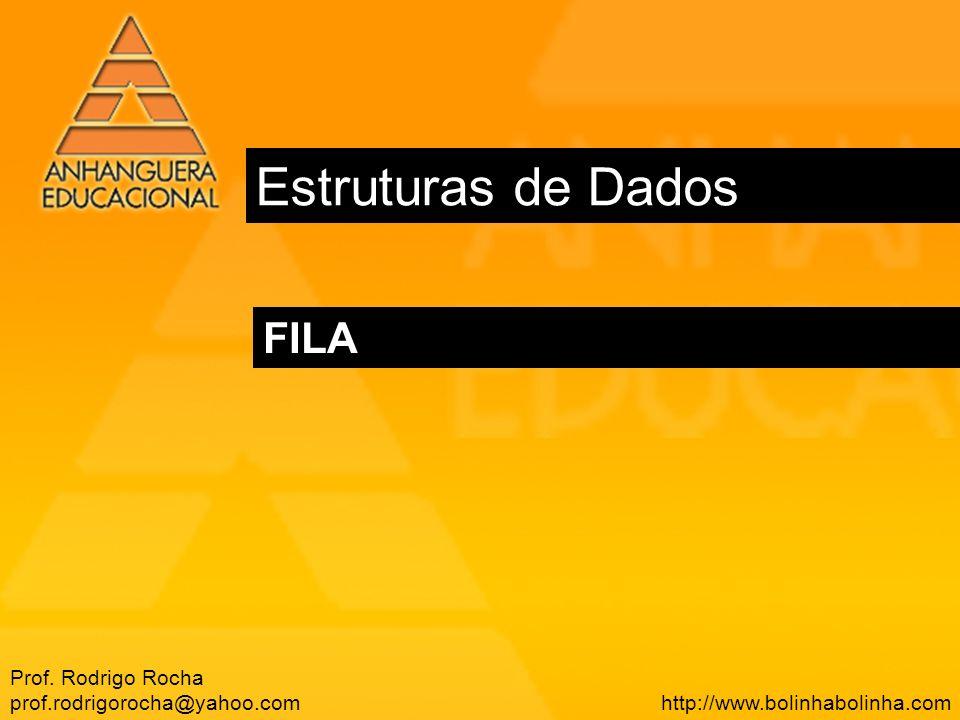 Estruturas de Dados FILA Prof. Rodrigo Rocha