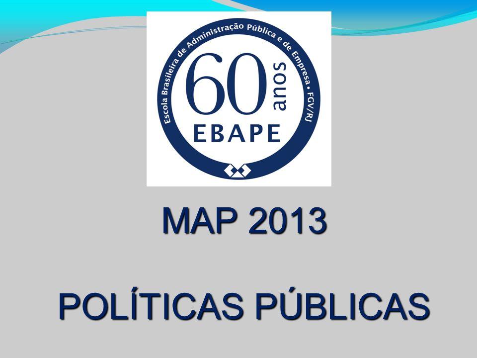 MAP 2013 POLÍTICAS PÚBLICAS