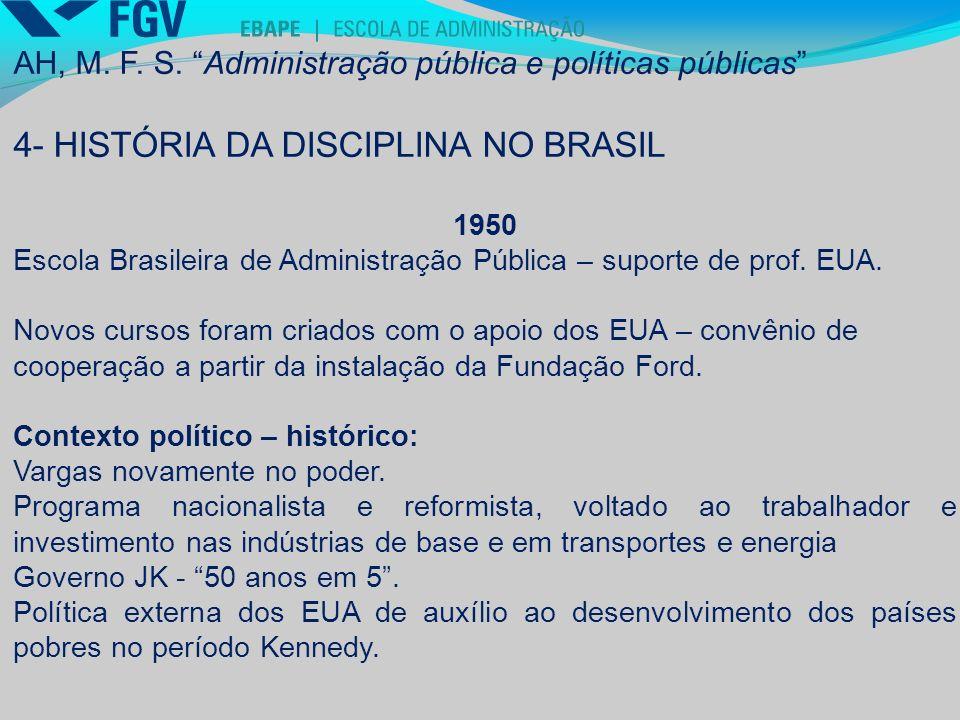 4- HISTÓRIA DA DISCIPLINA NO BRASIL