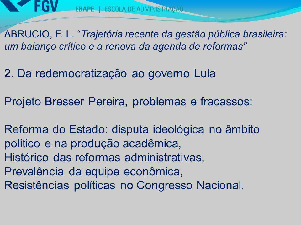 2. Da redemocratização ao governo Lula