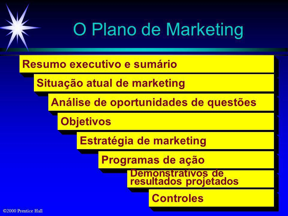 O Plano de Marketing Resumo executivo e sumário