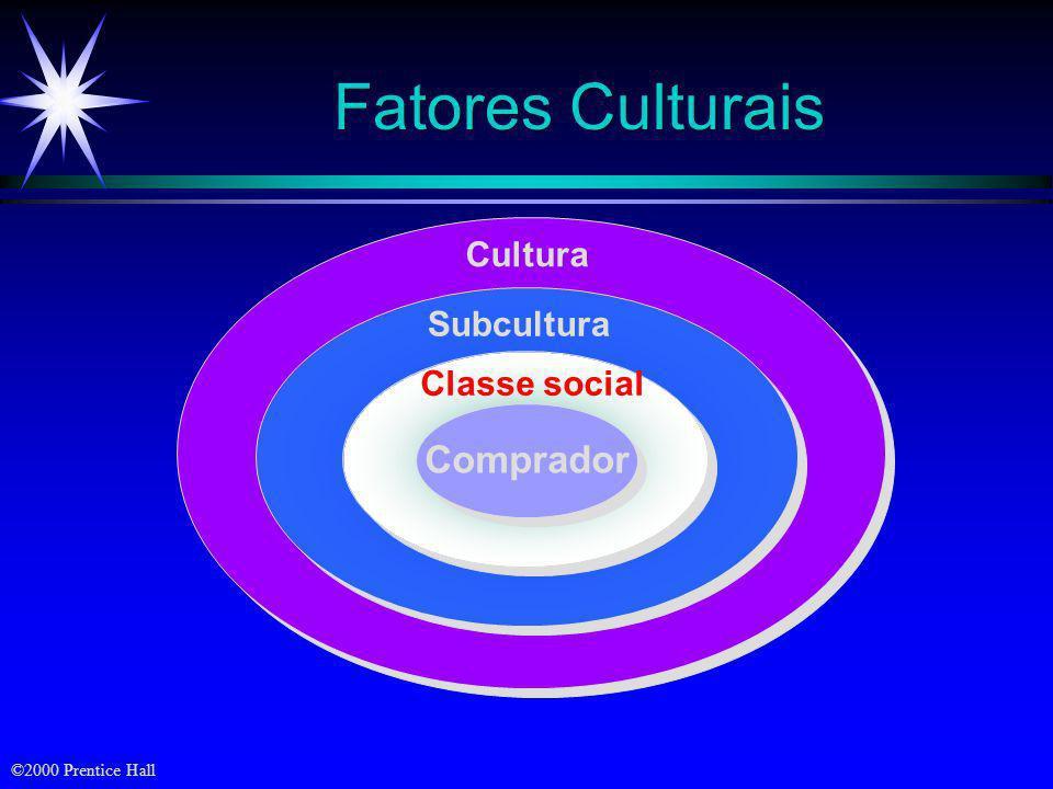Fatores Culturais Cultura Subcultura Classe social Comprador