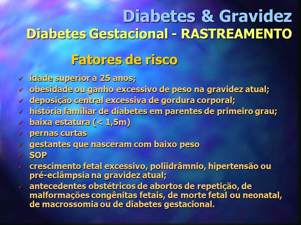 Diabetes & Gravidez Diabetes Gestacional - RASTREAMENTO