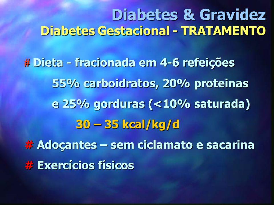 Diabetes & Gravidez Diabetes Gestacional - TRATAMENTO
