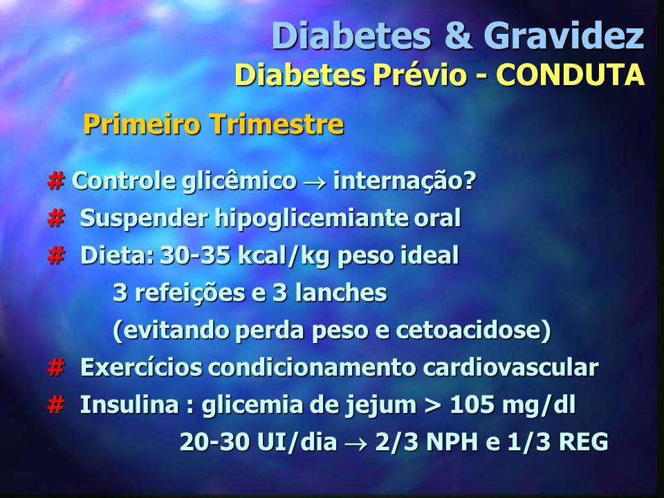 Diabetes & Gravidez Diabetes Prévio - CONDUTA