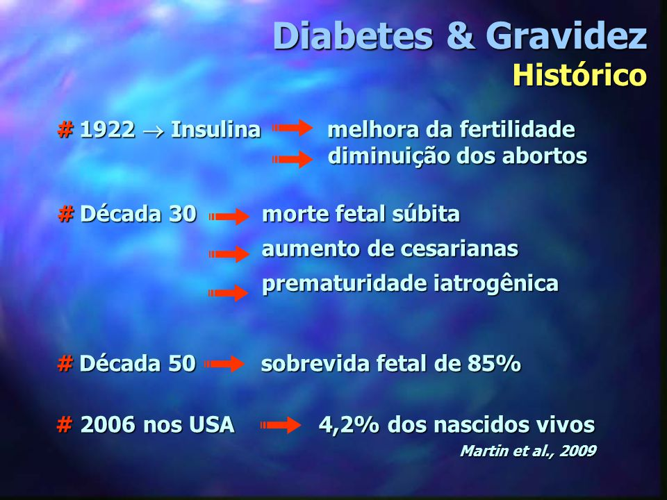 Diabetes & Gravidez Histórico