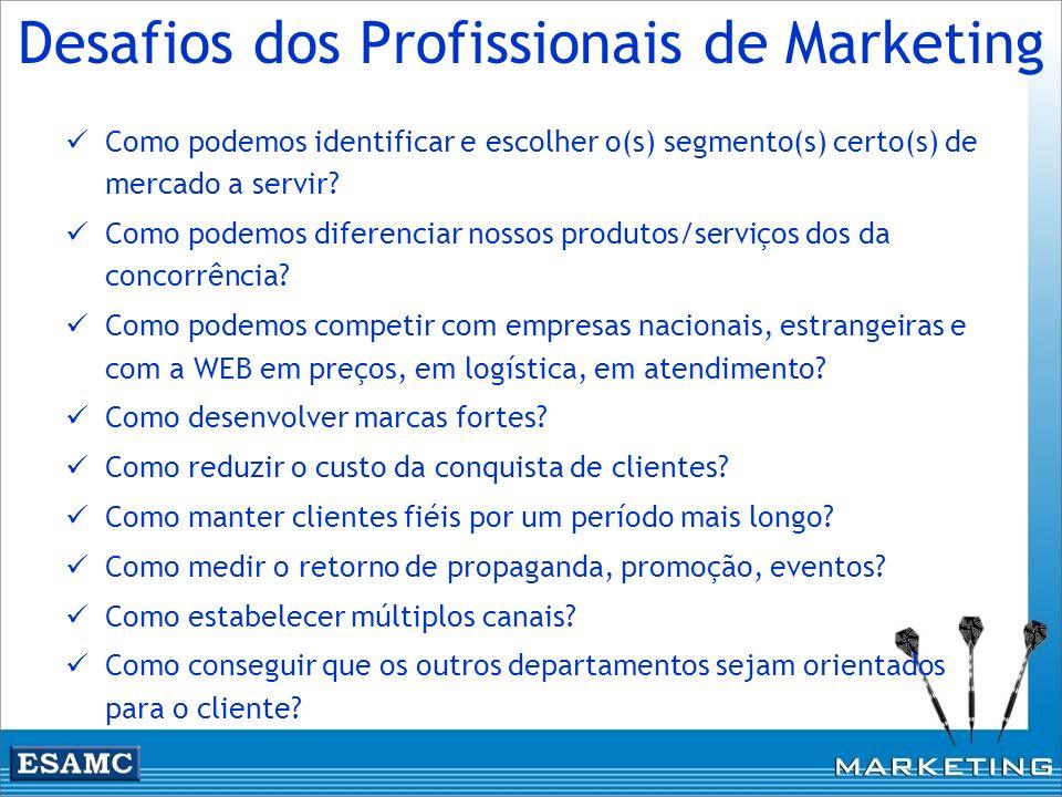 Desafios dos Profissionais de Marketing