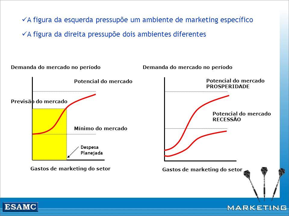A figura da esquerda pressupõe um ambiente de marketing específico