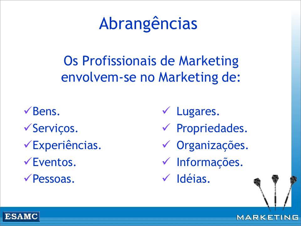 Abrangências Os Profissionais de Marketing