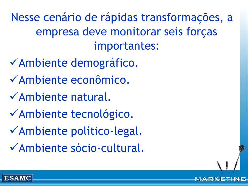 Nesse cenário de rápidas transformações, a empresa deve monitorar seis forças importantes: