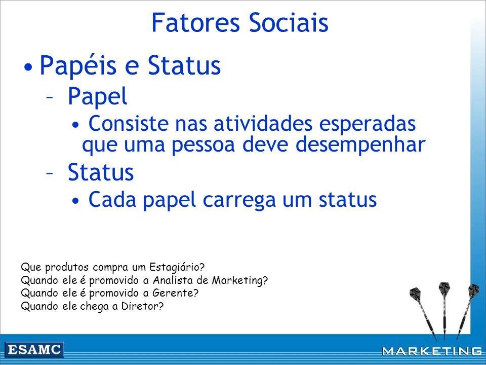 Fatores Sociais Papéis e Status Papel Status