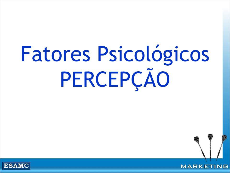 Fatores Psicológicos PERCEPÇÃO
