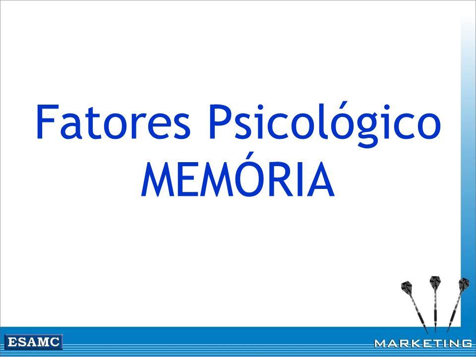 Fatores Psicológico MEMÓRIA