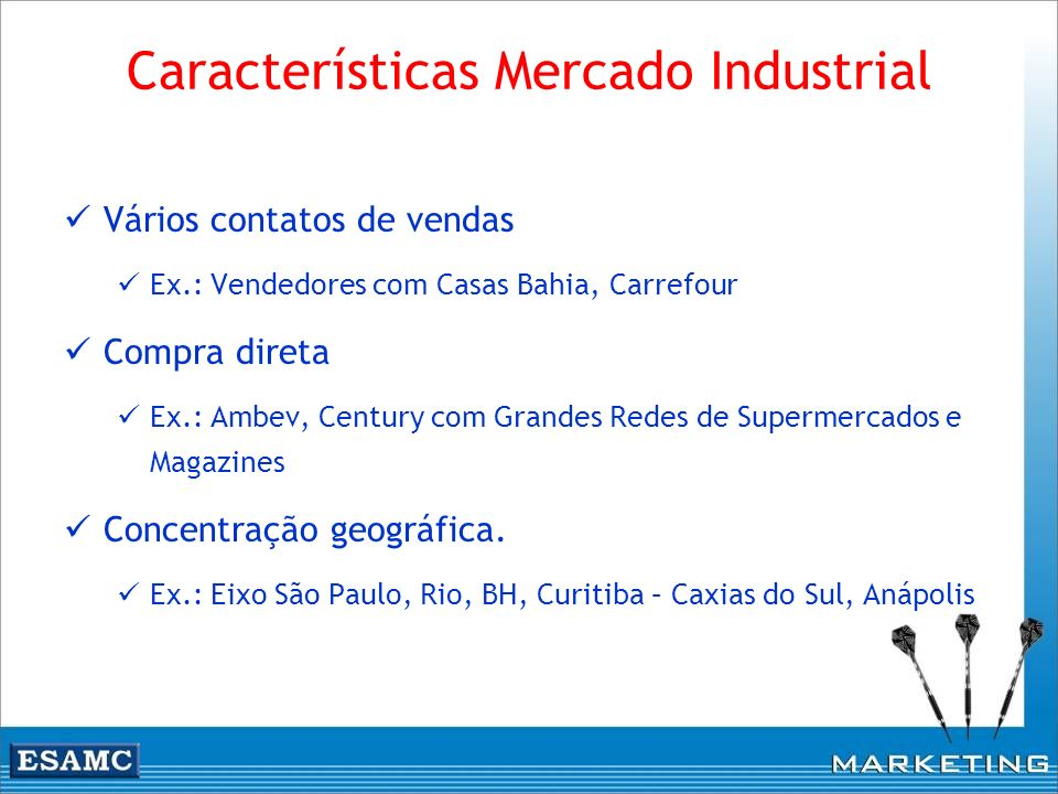 Características Mercado Industrial