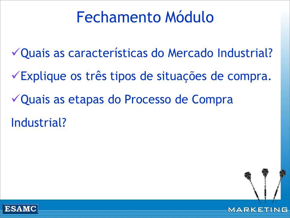 Fechamento Módulo Quais as características do Mercado Industrial
