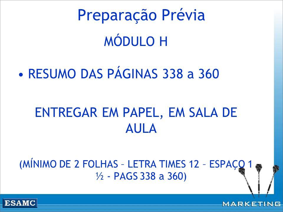 Preparação Prévia MÓDULO H RESUMO DAS PÁGINAS 338 a 360